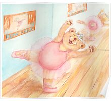 Ballerina Bear Poster