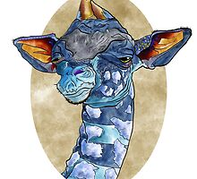 Zen Giraffe - Watercolour by VerticalSynapse