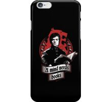 A Mind Needs Books (Red) iPhone Case/Skin