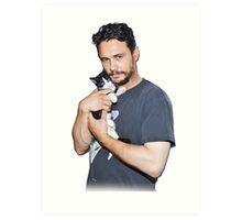 James Franco's Cat Art Print
