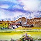 The little house on the prarie, Watercolour painting by coolart