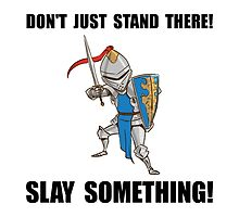 Knight Slay Something Cartoon by AmazingMart