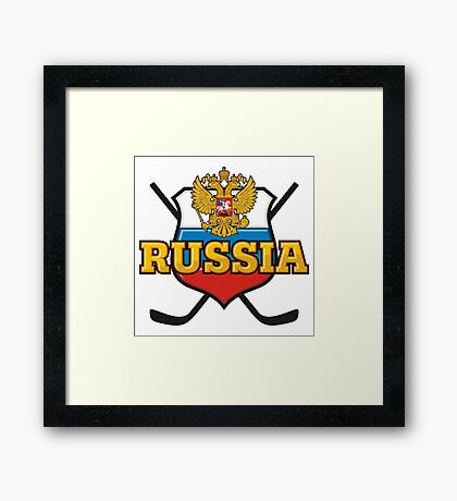 Hockey. Russia. Framed Print