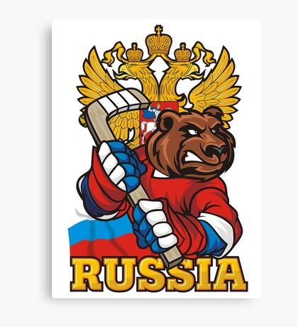Hockey. Russia. Canvas Print