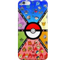 pokemon characters iPhone Case/Skin