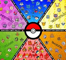 pokemon characters by pixing