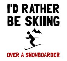 Skiing Over Snowboarder by AmazingMart