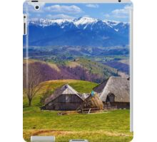 Wooden house and mountains panorama iPad Case/Skin