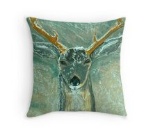 Snow Gazer Throw Pillow
