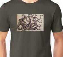 Vintage Ink Octopus Unisex T-Shirt