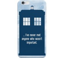 Doctor Who  - Tardis with Quote  iPhone Case/Skin