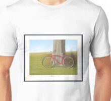 Retired old red Schwinn bicycle Unisex T-Shirt