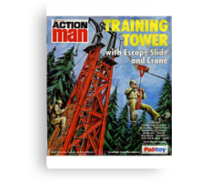 Action Man training tower Canvas Print