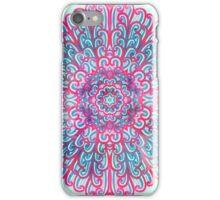 Pink and blue mandala iPhone Case/Skin