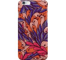 Pink and blue pattern with swirls iPhone Case/Skin