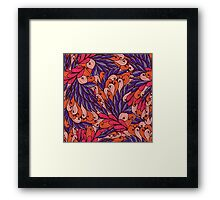 Pink and blue pattern with swirls Framed Print