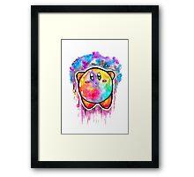 Cute Galaxy KIRBY - Watercolor Painting - Nintendo Framed Print