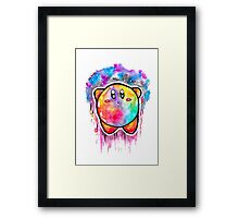 Cute Galaxy KIRBY - Watercolor Painting - Nintendo Jonny2may Framed Print
