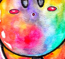 Cute Galaxy KIRBY - Watercolor Painting - Nintendo Jonny2may Sticker