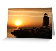 Summer Sunset -- Charlevoix, Michigan Greeting Card