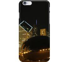 Chicago millenium park at night iPhone Case/Skin