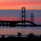 Mackinac Bridge at Sunset by John Carpenter
