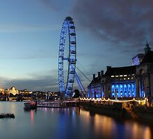 The London Eye,Millennium wheel. by Andy Wickenden