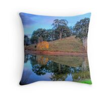 Morning reflections in Oakbank Throw Pillow