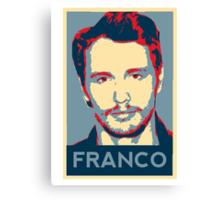 James Franco - Hope Poster Canvas Print