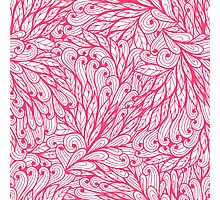 Pink floral pattern Photographic Print