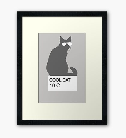 Cool Cat Color Matching Framed Print