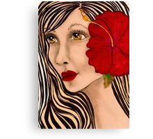 Red Therapy Canvas Print
