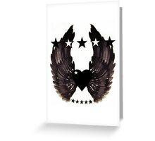 Rebel love emblem Greeting Card