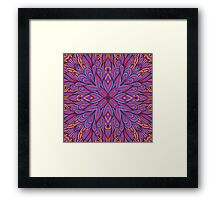 Pink and blue floral ornament Framed Print