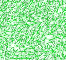 Green doodle pattern by Patternalized