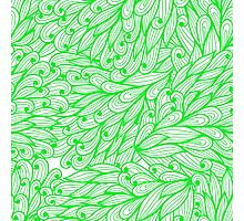 Green doodle pattern Photographic Print