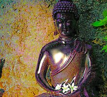 Buddah with Offering by ValerieAmber