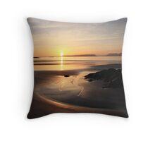Sunset over Eigg. Throw Pillow