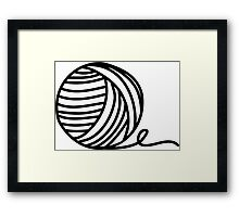 Yarn Addict Framed Print