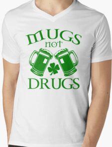Mugs Not Drugs  Mens V-Neck T-Shirt