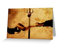 REVELATION OF A PAINFUL TRUTH BY DIVINE INTERVENTION Greeting Card