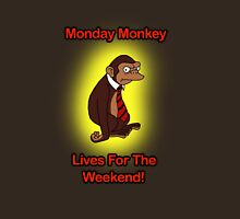 I Hate Mondays Monkey  Unisex T-Shirt