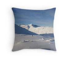 Winter walking in Glencoe. Throw Pillow