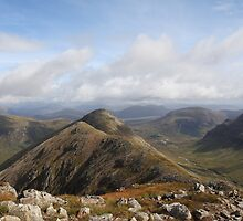The view from Stob Dubh in Glencoe. by John Cameron
