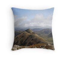 The view from Stob Dubh in Glencoe. Throw Pillow