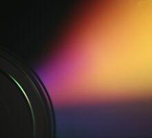 Closeup macro photo of shiny underside cd dvd disk by edwardolive