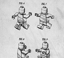 Lego Mini Figure Original Patent by Edward Fielding