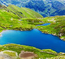 Lake and mountain (Capra Lake in Romania) by naturalis