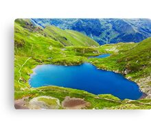 Lake and mountain (Capra Lake in Romania) Canvas Print