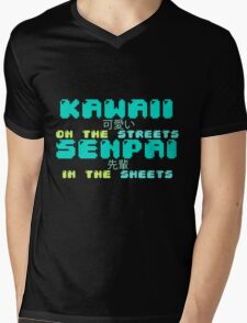 ♡ KAWAII on the streets, SENPAI in the sheets ♡ (2) Mens V-Neck T-Shirt